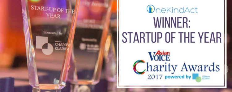 Charity awards   one kind act   startup of the year winner